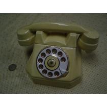 Antiguo Galletero De Cerámica En Forma De Teléfono Antiguo