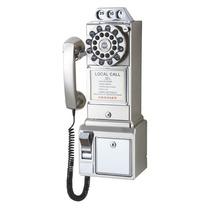 Telefono Antiguo Monedas Disco Cromo Tragamonedas Antiguedad