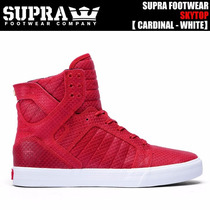 Supra Skytop Sw18264 De Piel Color, Color Rojo