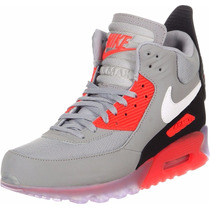 Tenis Bota Nike Air Max 90 Ice Sneakerboot Gray & Orange