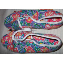 Tenis De Tela Estampada Multicolor, Liz Claiborne $1200