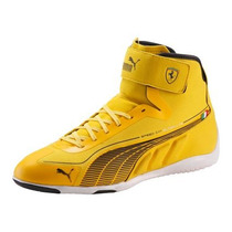 Tenis Puma Speed Cat Ferrari Super Lite Hi Amarillo Neg Gym