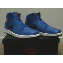 Tenis Nike Air Jordan 1 Azul Aqua Talla 9us 27cm