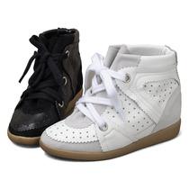 Tenis Sneakers Tacon Wedge Plataforma 4 Cm Envio Gratis