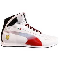 Tenis Puma Evospeed 1.2 Ferrari Bota Blanca Plata Hm4