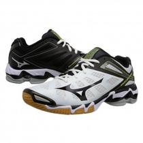 Tenis Mizuno Rx3 Blanco Negro Para Voleibol
