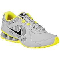 Tenis Nike Reax 7 Tr Lea 536809-014 Gris Amarillo Pv