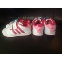 Tenis Nike Adidas Bebe Infantil Niña Blanco Con Rosa.