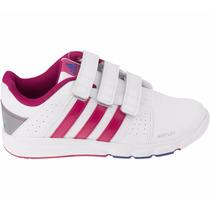 Tenis Bts Class 4 Para Niña 3 Tiras De Velcro Adidas S82720