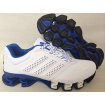 Tenis Adidas Mega Bounce Originales White & Blue Cobalt Gy