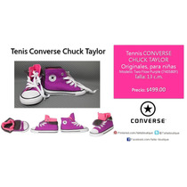 Converse Chuck Taylor Americanos Para Niñas 13 Cm