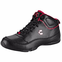 Tenis T/botines Casuales Charly 1030130 Negro Rojo Oi