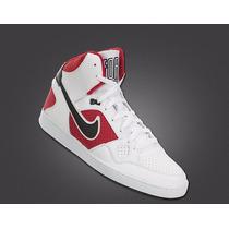 Bota Nike Force Mid 616281-141 Blanco Rojo Nuevo