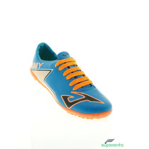 Weasly Wayne Tenis De Soccer Azul Naranja