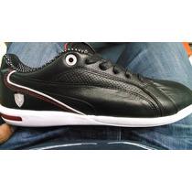 Tenis Puma Ferrari Primo Sf 2015 Negro Y Blanco 100% Piel