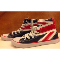 Tenis Bandera Inglaterra Uk One Direction Tipo Converse Dama