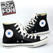 Converse Bota Negro Piel 100% Originales