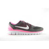 Tenis Nike Flex Run Gs Negro/rosa/blanco (724992-001)