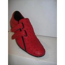 Zapato Teni Diseño Italiano En Avestruz