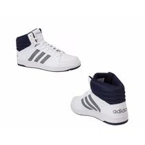 Tenis Casual Bota Adidas Hoops Vs Mid 7778 Id 149518 Blanco