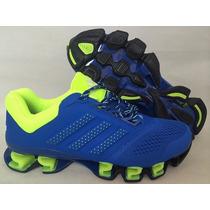 Tenis Adidas Mega Bounce Originales Drive Azul & Amarillo