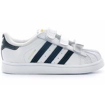 Tenis Originals Superstar Velcro Para Bebe Adidas B23637