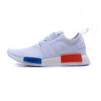 Tenis Adidas Nmd Runner Primeknit Boost White Blue Red Gym