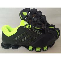 Tenis Adidas Mega Bounce Originales Negro & Verde Neon Gym