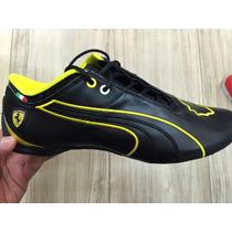 Tenis Puma Ferrari Future Cat M1 Negro Amarillo 2015