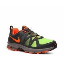Tenis Nike Air Alvord 10 Trail Nuevos En Caja Verde-naranja