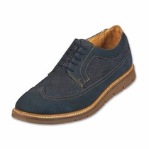 Zapatos Oxford Capa De Ozono Bostoneanos Azul Y Café