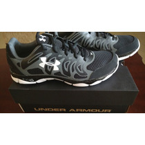 Tenis Under Armour Micro G Engage - Running - Negros - 7.5