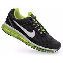 Tenis De Piel Nike Air Max 2013 Negros Caballero Originales
