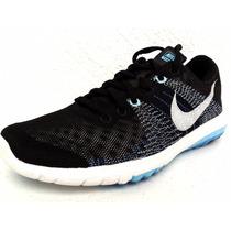 Mujer Tenis Nike Flex Fury Flyknit Running Premium Azul Gym