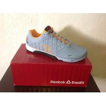 Tenis Reebok Crossfit Nano 4.0 Azul Cielo Naranja 8, 9 Y 9.5