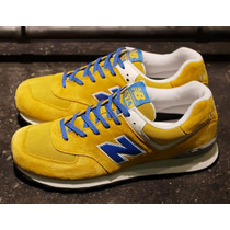 Tenis New Balance Hombre Amarillos 574