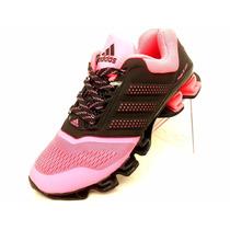 Mujer Tenis Adidas Mega Bounce Originales Drive Gris Rosa