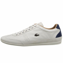 Lacoste Misano 34 Total White Leather Suede Sneakers Gym