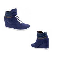Tenis Casual Bota Urban Shoes Color Azul Marino