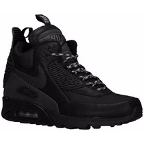 Botas Caminata Nike Air Max 90 Sneakerboot Total Black Gym