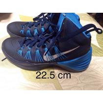 Tenis Nike Negro Con Azul