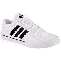 Tenis Adidas Casuales Gvp Canvas Str G18202 Blanco Negro Pv