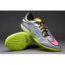 Tenis Nike Hypervenom Phelon Premium - Cromo-rosa-dorado