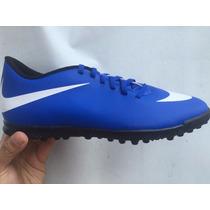 Tenis Nike Azul Con Blanco Económico Turf Con Caja