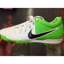 Tenis Nike Tiempo T90 Exacto Iv Tf Blanco-verde Con Caja