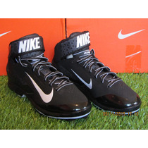 Spike Nike Air Huarache Pro Mid Metal / Negro 8.5mx - 10.5us