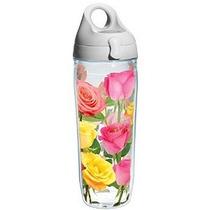 Tervis Coming Up Roses Wrap Botella De Agua Con Tapa Gris 24
