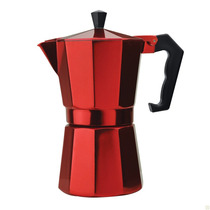 Cafetera De Aluminio Para Espresso, Disponible En 3 Colores.