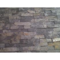 Piedra Laja Negra Mixteca 10x Cintilla Cascada Fachaleta