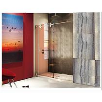 Sistema Deslizable Para Wc/puerta Cristal 9-12mm 80kg/ Inox!